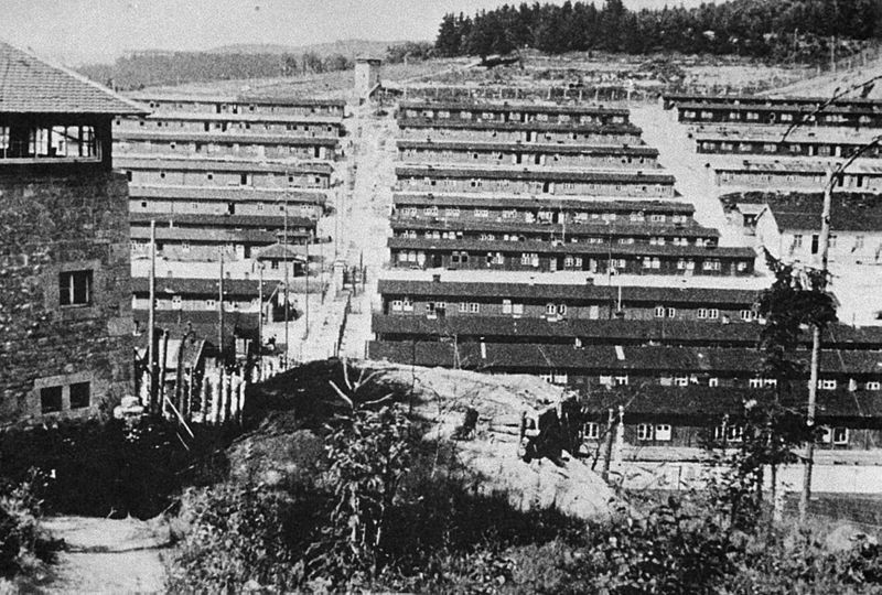 General view of Flossenbürg concentration camp after liberation by the US Army 99th Infantry Division, April 1945